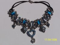 Chocker aqua crystal